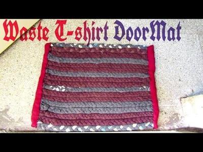 Doormat from waste cloth || Handmade || Diy || How to make Doormat at Home