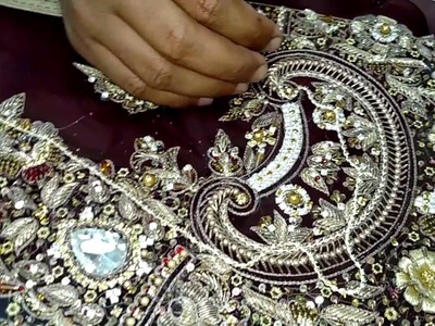 Hand embroidery latest design | Beautiful frock design for bridal | Hand embroidery ideas | HD 1-2