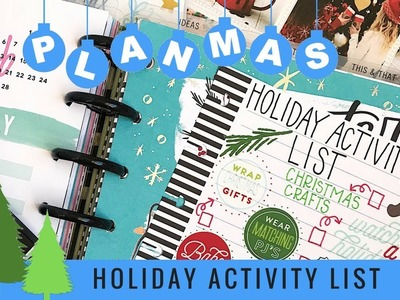 Holiday Activity To Do List. PLANMAS Day 2 | Plans by Rochelle
