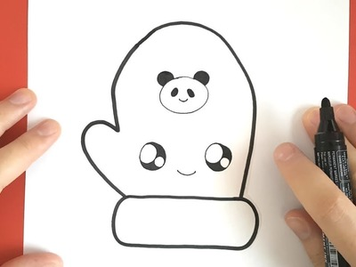 HOW TO DRAW A GLOVE CUTE AND EASY