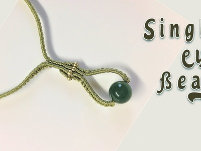 How to macrame: Simple single bead necklace - Easy macrame tutorial with step by step