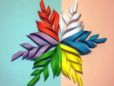 How to make 3D snowflake paper | DIY paper snowflake tutorial