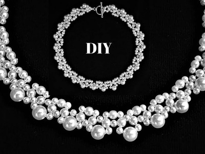 How to make a beaded necklace in less than 15 minutes for a little black dress or for a bride