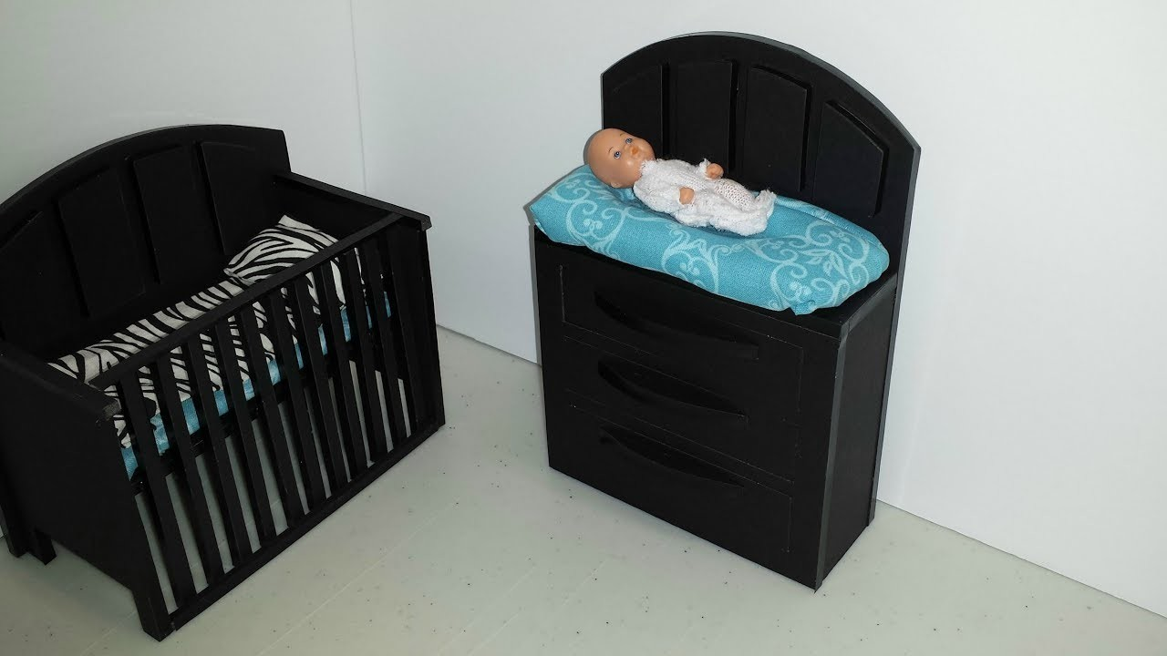 How to make a Doll Baby Changing Table
