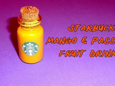 How to Make a Starbucks Mango & Passion Fruit Miniature Bottle Charm