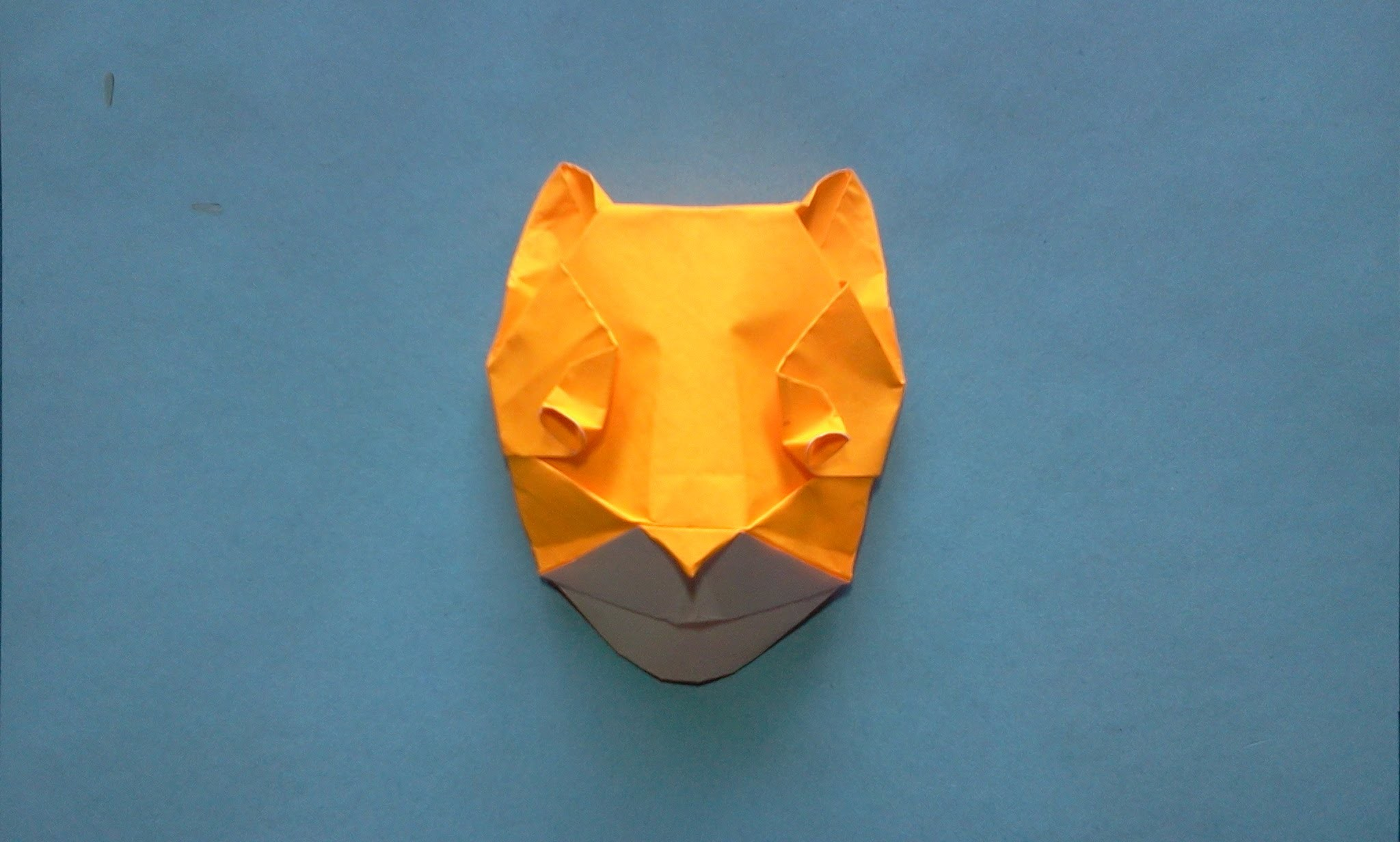 How to make Origami lion mask (michael g  lafosse)