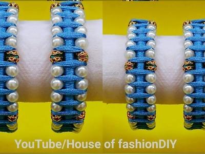How To Make Pearl Bangles At Home||Designer Bangles. !