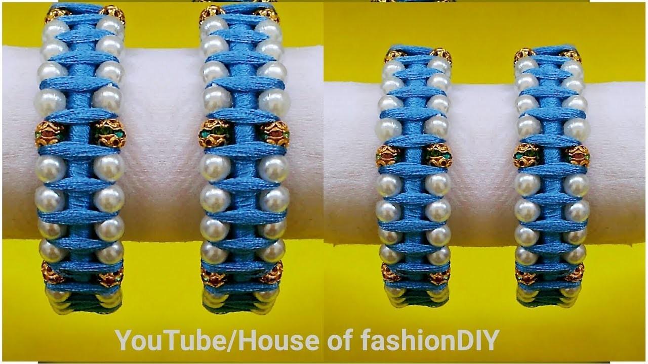 How To Make Pearl Bangles At Home  Designer Bangles. !