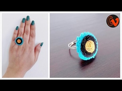 How to Make Quilling Finger Ring. Tutorial. Beginners. Design 13