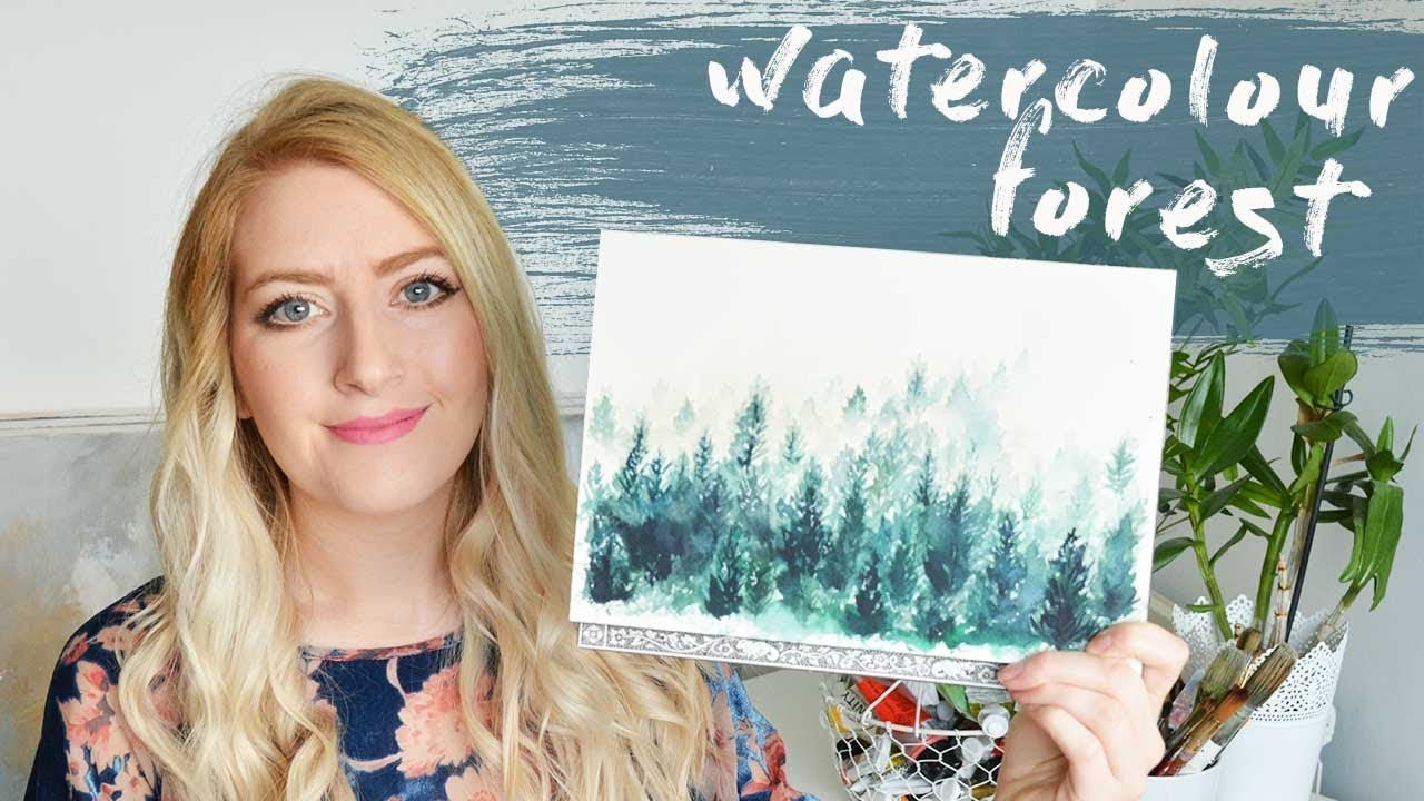 How To Paint A Watercolor Forest | AD