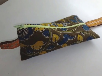 How to sew a pencil case or make up bag