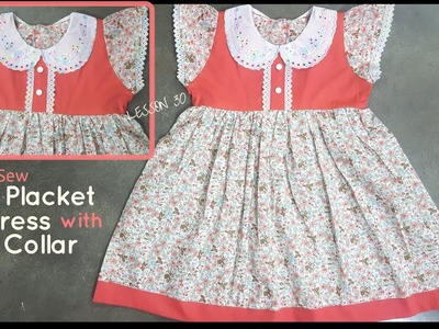 How to Sew: Faux Placket Dress - Beginners Sewing Lesson 30
