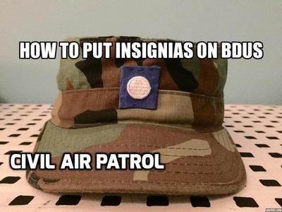 How to sew Insignias on to BDUs - Civil Air Patrol