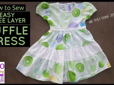 How to Sew: THREE LAYER RUFFLE DRESS