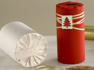 How to Wrap a Cylinder-Shaped Gift- Martha Stewart