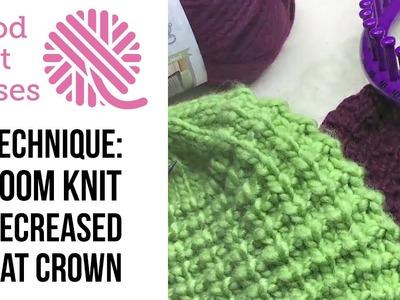 Loom Knit | Decreased Hat Crown