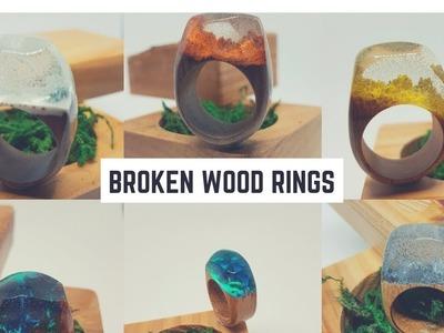 Making a broken wood ring.