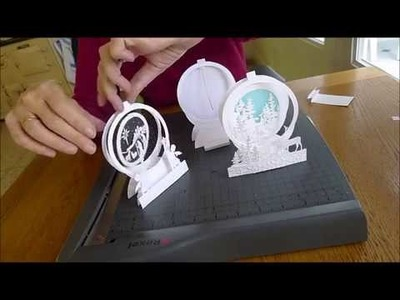 Making snowglobe cards on a budget Part 1