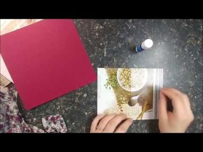 """Mini Recycled Cereal Box. Fabric Junk Journal Tutorial Using """"Song Bird"""" (a Calico Collage kit)."""