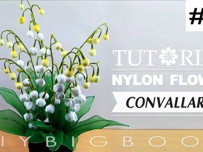 Nylon stocking flowers tutorial #61, How to make nylon stocking flower step by step