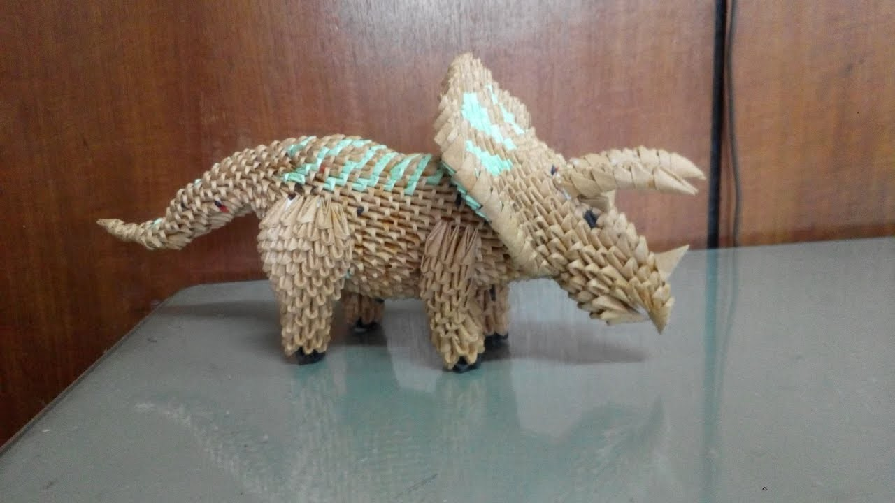 Origami 3d triceratops