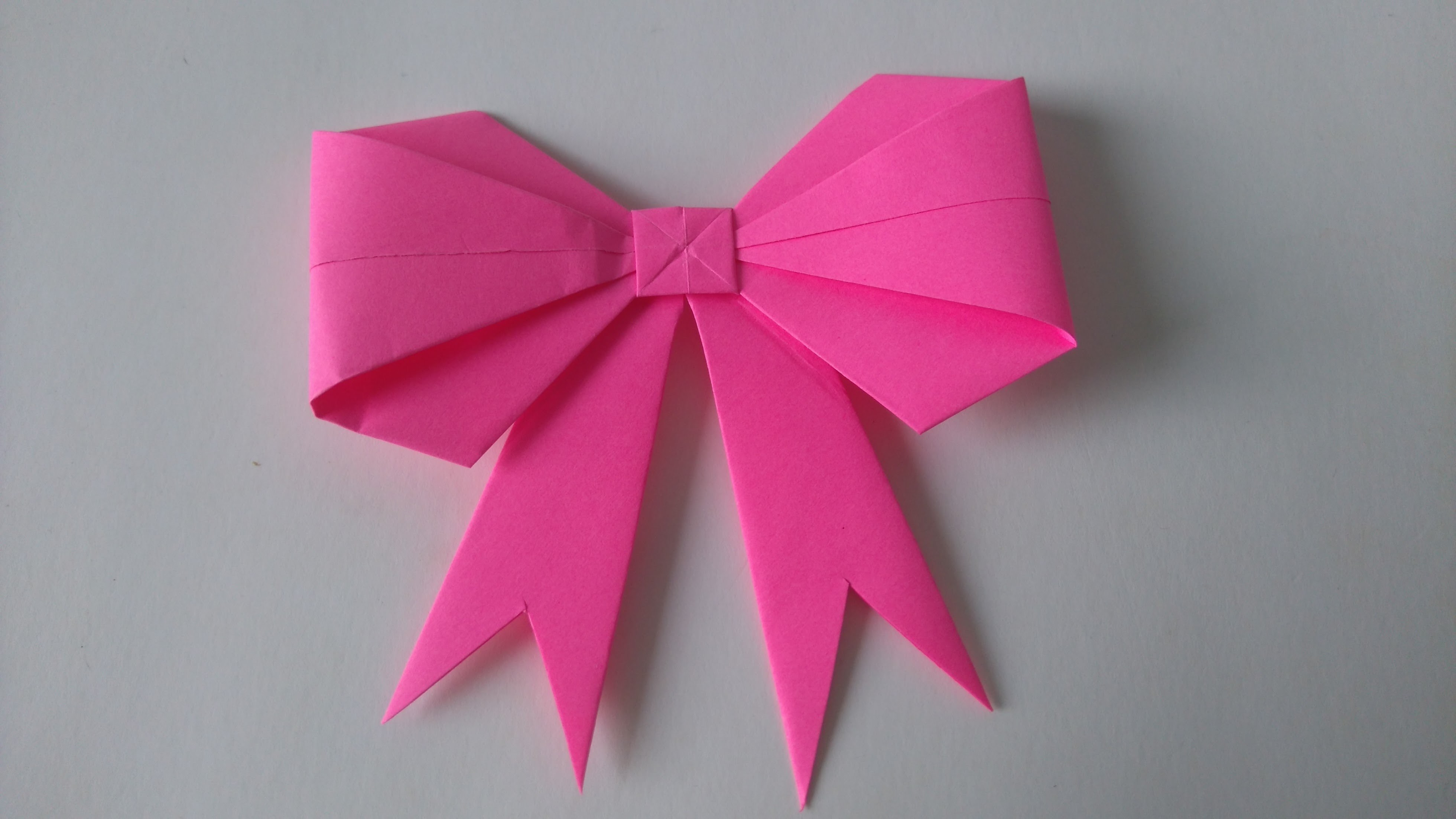 Origami Toys - How to fold an Origami BowRibbon