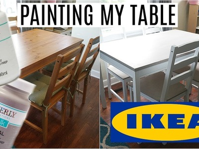 Painting My IKEA Table   Waverly Chalk Paint   No Sanding or Priming!