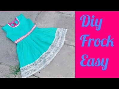 Party Wear frock for kids Cutting and Stitching tutorial. With Measurements .