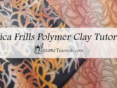 Polymer Clay Mica Frills Tutorial