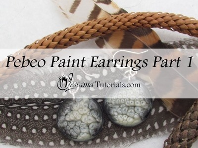 Polymer Clay Pebeo Paint Earring Tutorial Part 1