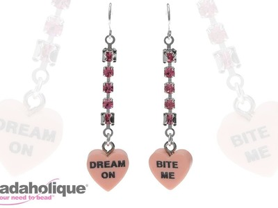 Quick & Easy DIY Jewelry: Sweet Candy Heart Earrings