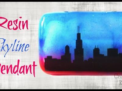 Resin Skyline Pendant DIY | Resin Crafts | Craft Klatch