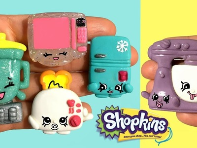 SHOPKINS KITCHEN APPLIANCES! Stop Motion Polymer Clay Tutorial