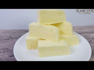 Simplest Steamed Sponge Cake (3种成分 蒸鸡蛋糕)