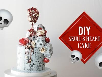 Skull and Heart Cake | Satisfying Cake Decorating | Greggy Soriano