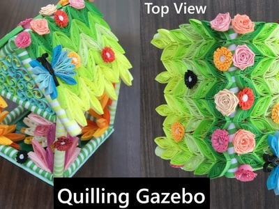 Tutorial #20-2 | New Attractive A Quilling Gazebo. House ( Part-2 ) | Easy Concept | How to Make
