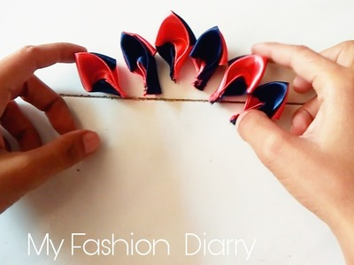 Two in one ribbon flower making