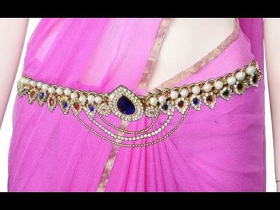 Waist chain making with lace | easy making | jewellery tutorials