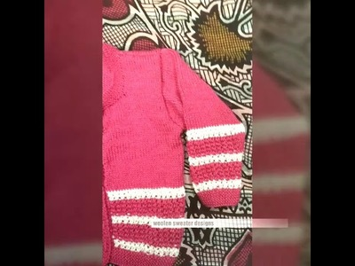 Woolen sweater designs | easy sweater design for baby or kids in hindi || sweater design making