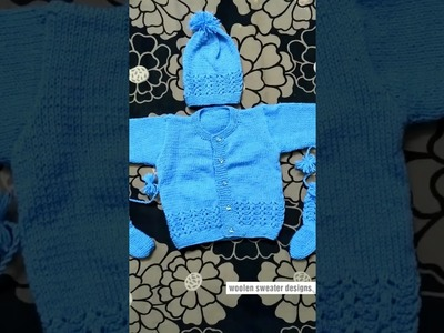 Woolen sweater designs | one colour sweater design for baby or kids in hindi - easy sweater designs