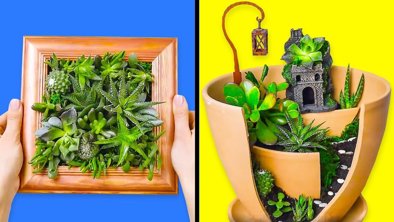 10 AWESOMELY BEAUTIFUL CRAFTS WITH PLANTS
