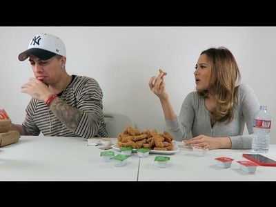 100 CHICKEN NUGGETS IN 10 MINUTES CHALLENGE