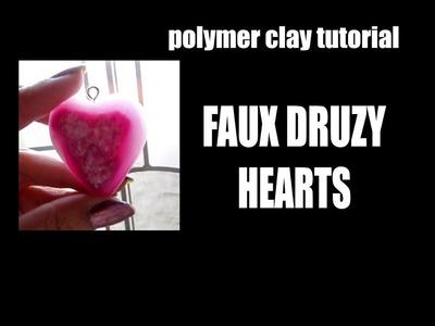 232 Polymer clay tutorial - faux druzy heart for Valentine's Day - Pardo