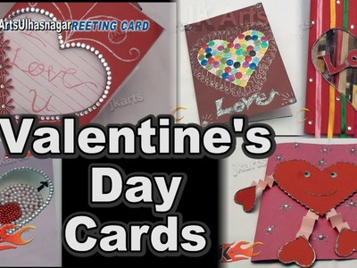 5 VALENTINE'S DAY CARDS | HOW TO MAKE | JK Arts 1340