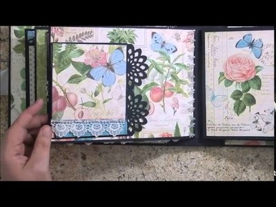 7 x 9 Botanical Tea Mini Album