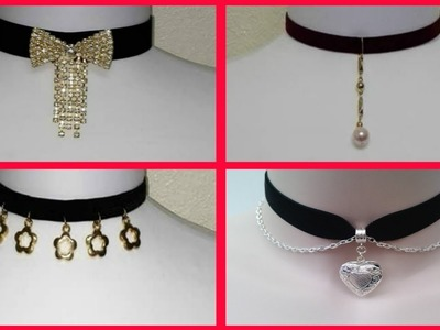 8 DIY Chokers Necklace [ Easy and Quick to do ] 2018 - Asnie ❤