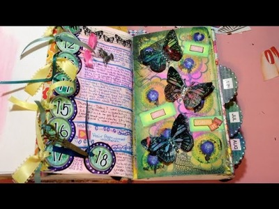 ART JOURNAL - MY DOCUMENTED LIFE PROJECT 2014 - Prompt #20 - Use Rubber Stamp in a New Way