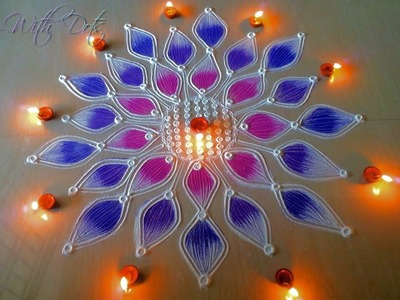 Beautiful Rangoli Designs with Colours for festivals - Tutorial For beginners - Rangoli by Maya!
