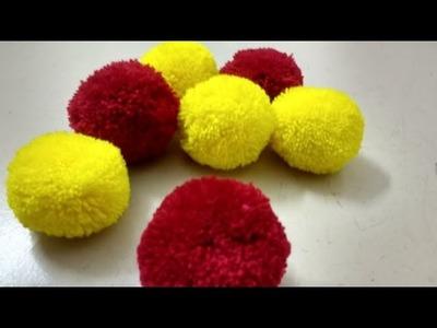 Beautiful Woolen Flowers making in easy steps.