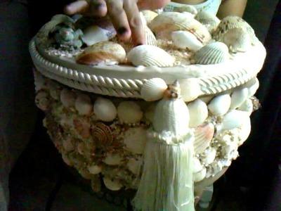 Caja decorada con conchitas de mar part3